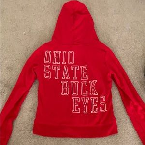 PINK Ohio state buckeyes zip up hoodie